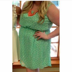 Plus Size Mint Green Dress